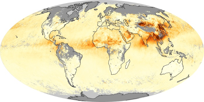 Global Map Aerosol Optical Depth Image 170