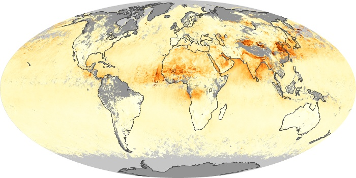 Global Map Aerosol Optical Depth Image 171