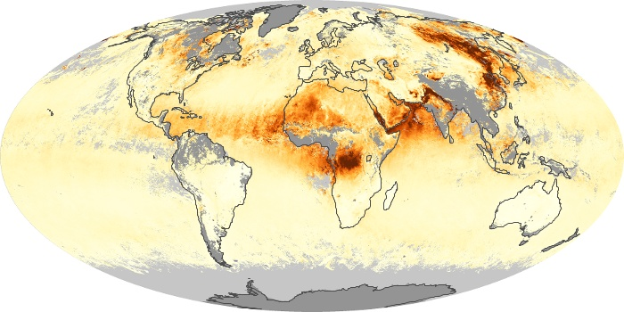 Global Map Aerosol Optical Depth Image 173