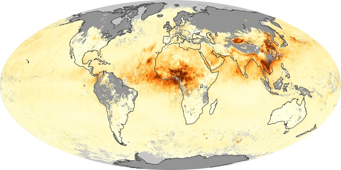 Global Map Aerosol Optical Depth Image 181