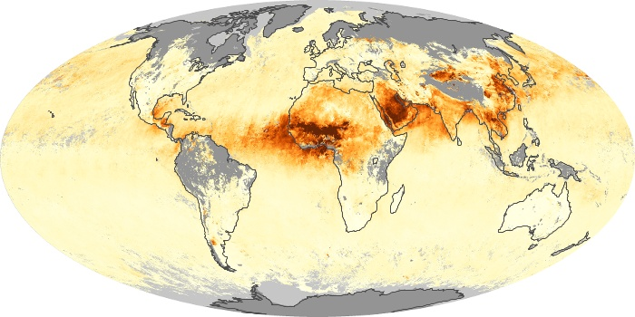 Global Map Aerosol Optical Depth Image 182