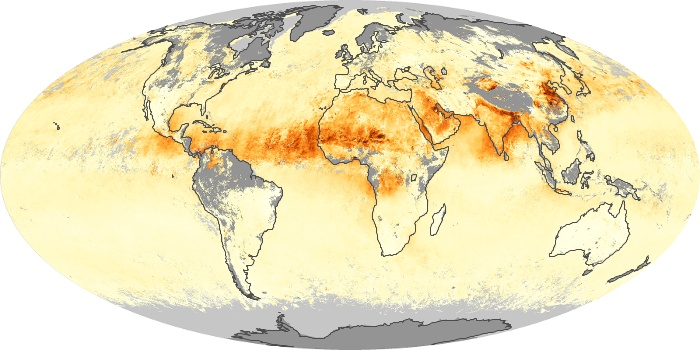 Global Map Aerosol Optical Depth Image 155