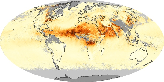 Global Map Aerosol Optical Depth Image 184