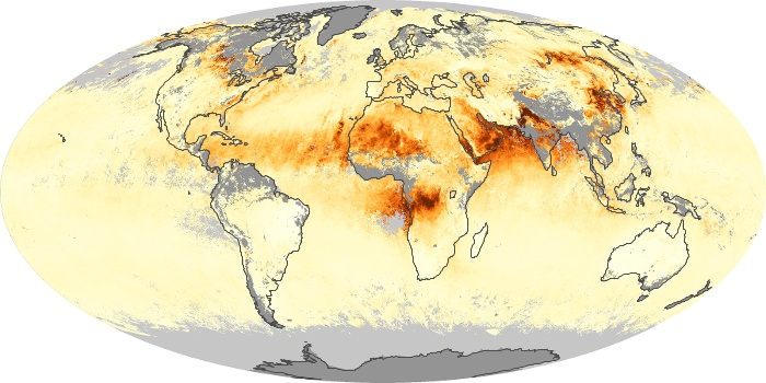 Global Map Aerosol Optical Depth Image 185