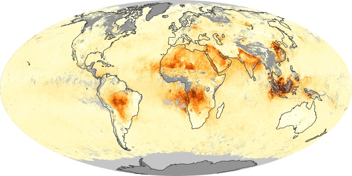 Global Map Aerosol Optical Depth Image 187