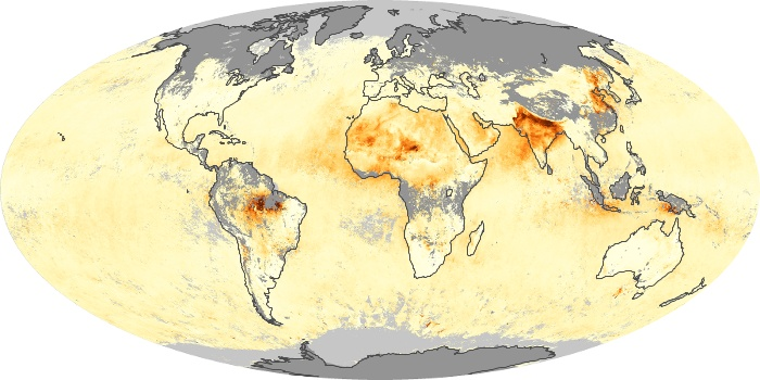 Global Map Aerosol Optical Depth Image 189