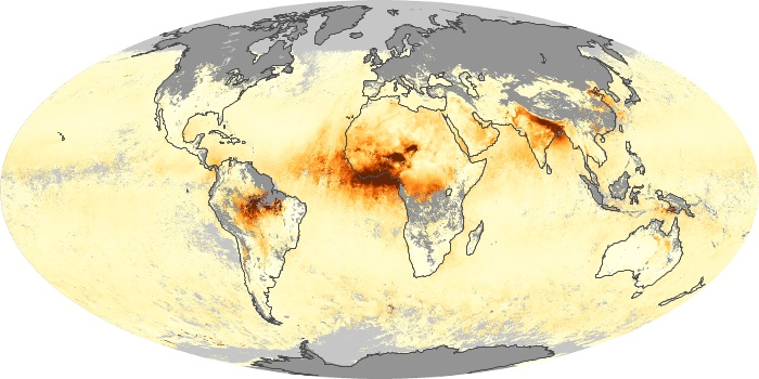 Global Map Aerosol Optical Depth Image 190