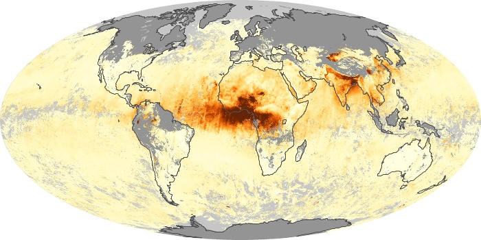 Global Map Aerosol Optical Depth Image 192