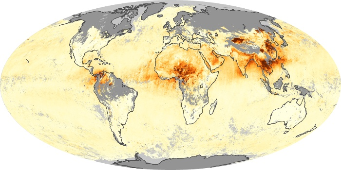 Global Map Aerosol Optical Depth Image 165