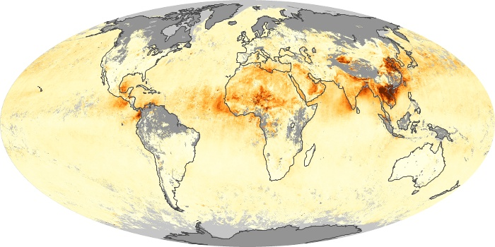 Global Map Aerosol Optical Depth Image 194