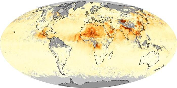 Global Map Aerosol Optical Depth Image 167