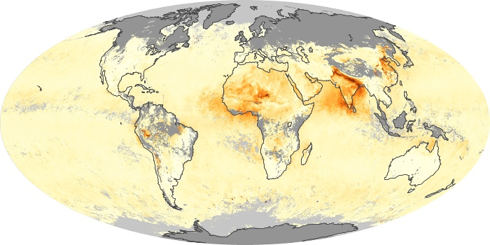 Global Map Aerosol Optical Depth Image 201
