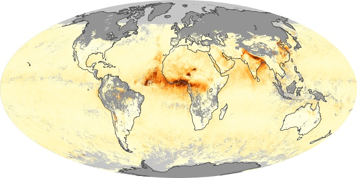 Global Map Aerosol Optical Depth Image 174