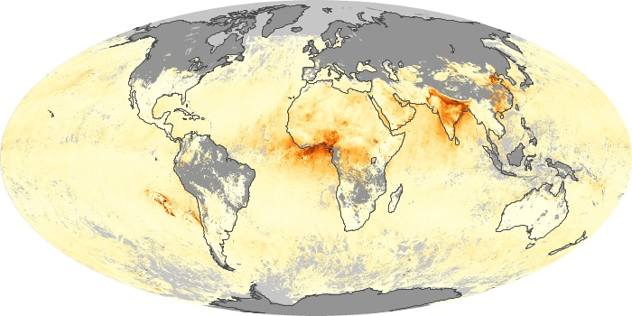 Global Map Aerosol Optical Depth Image 203