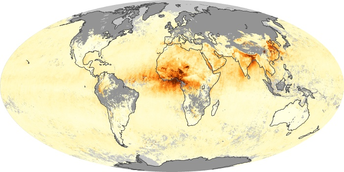 Global Map Aerosol Optical Depth Image 204