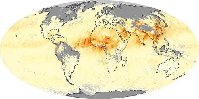 Global Map Aerosol Optical Depth Image 205