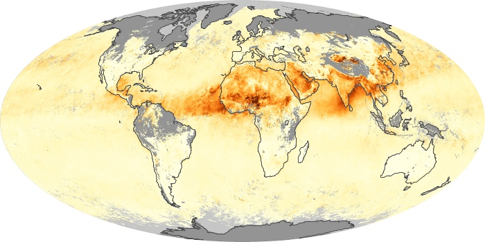 Global Map Aerosol Optical Depth Image 206