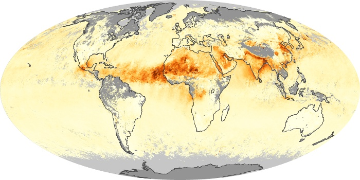 Global Map Aerosol Optical Depth Image 207