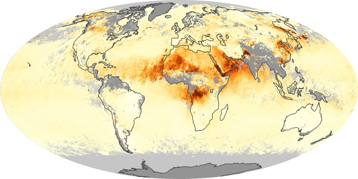 Global Map Aerosol Optical Depth Image 209