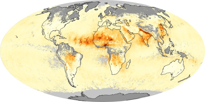 Global Map Aerosol Optical Depth Image 212