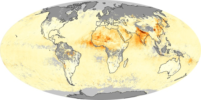 Global Map Aerosol Optical Depth Image 213