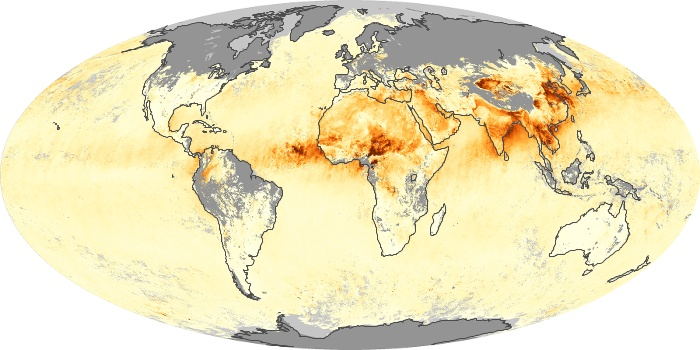 Global Map Aerosol Optical Depth Image 217