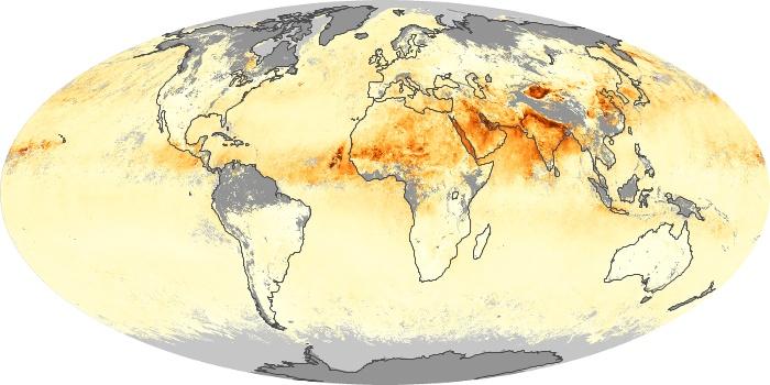 Global Map Aerosol Optical Depth Image 219