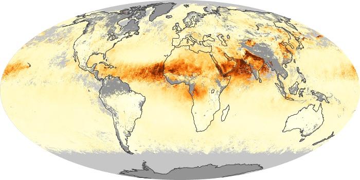 Global Map Aerosol Optical Depth Image 220