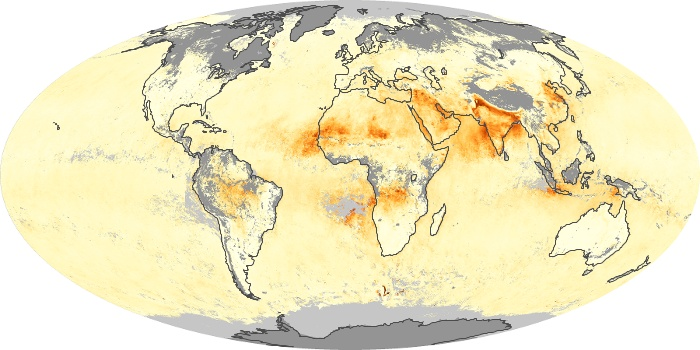 Global Map Aerosol Optical Depth Image 224