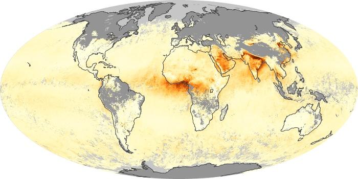 Global Map Aerosol Optical Depth Image 227