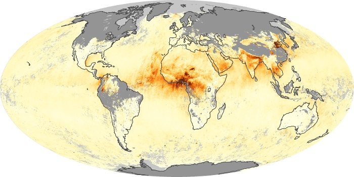 Global Map Aerosol Optical Depth Image 228