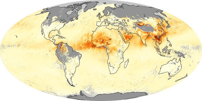 Global Map Aerosol Optical Depth Image 229