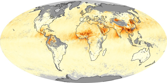 Global Map Aerosol Optical Depth Image 230