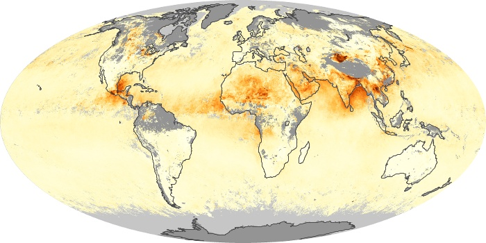 Global Map Aerosol Optical Depth Image 231