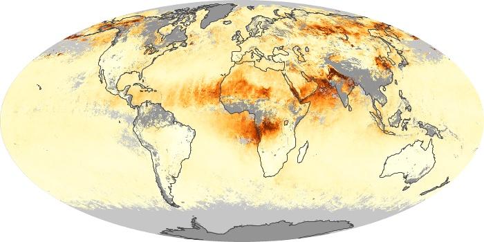 Global Map Aerosol Optical Depth Image 233