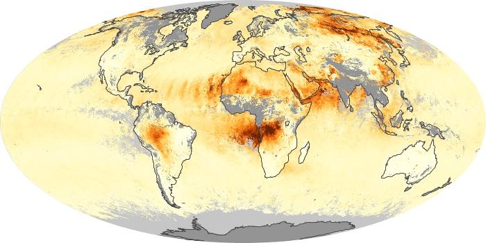 Global Map Aerosol Optical Depth Image 234
