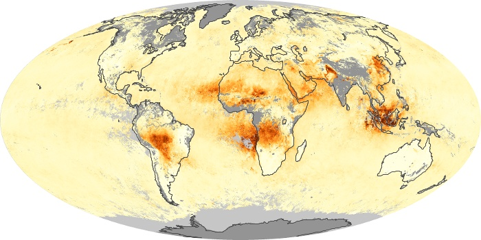 Global Map Aerosol Optical Depth Image 235