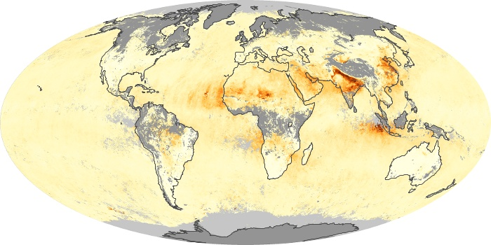 Global Map Aerosol Optical Depth Image 236
