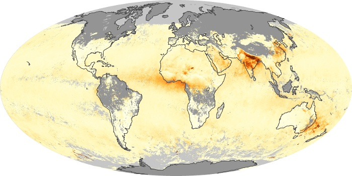 Global Map Aerosol Optical Depth Image 238
