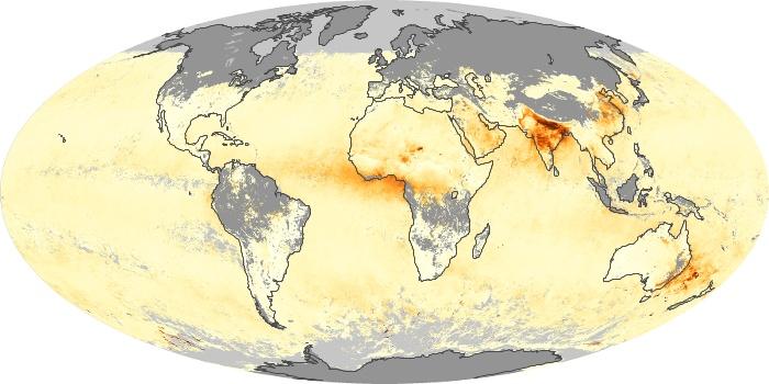Global Map Aerosol Optical Depth Image 238