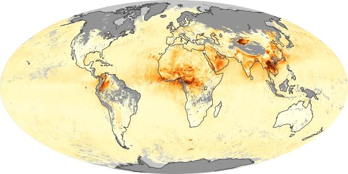 Global Map Aerosol Optical Depth Image 241