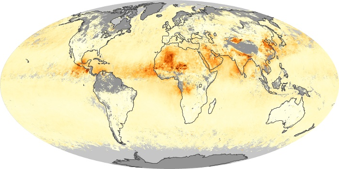 Global Map Aerosol Optical Depth Image 243