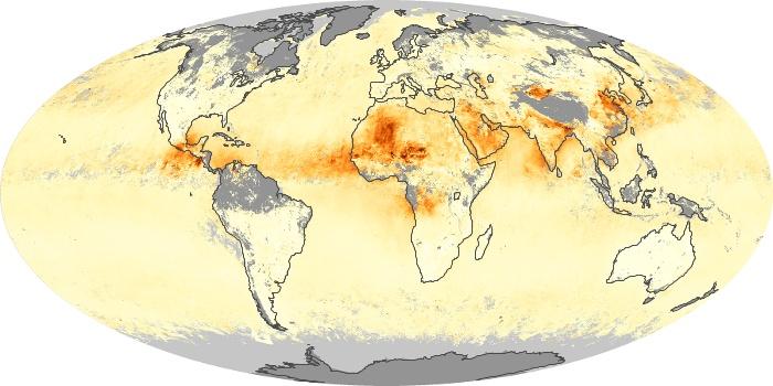 Global Map Aerosol Optical Depth Image 243