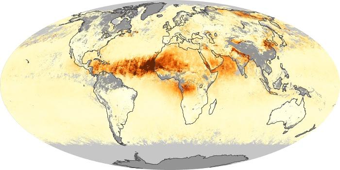 Global Map Aerosol Optical Depth Image 244
