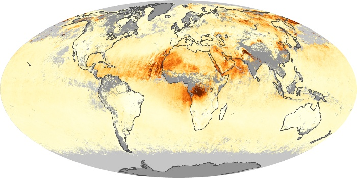 Global Map Aerosol Optical Depth Image 245