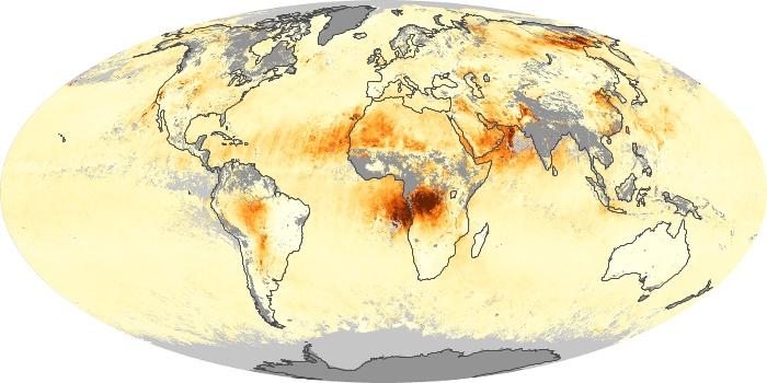 Global Map Aerosol Optical Depth Image 246