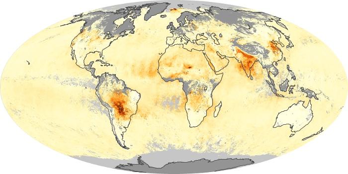 Global Map Aerosol Optical Depth Image 248