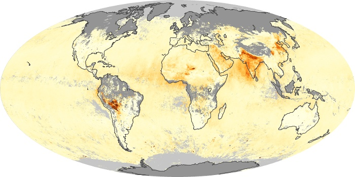 Global Map Aerosol Optical Depth Image 249