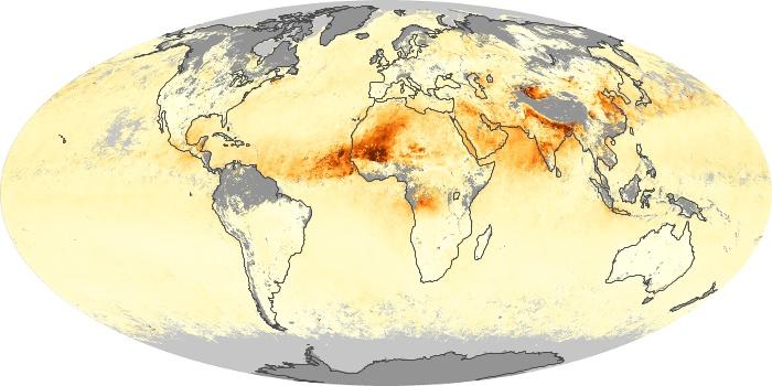 Global Map Aerosol Optical Depth Image 255