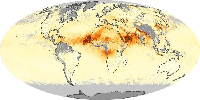 Global Map Aerosol Optical Depth Image 256